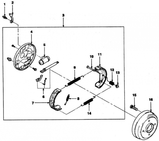 как поменять задние тормозные колодки