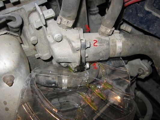 Термостат для рено логан замена своими руками