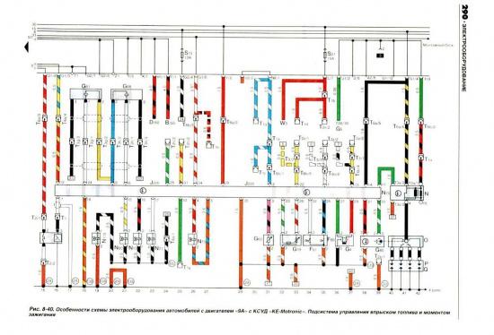 Схема электрооборудования пассат б3 570