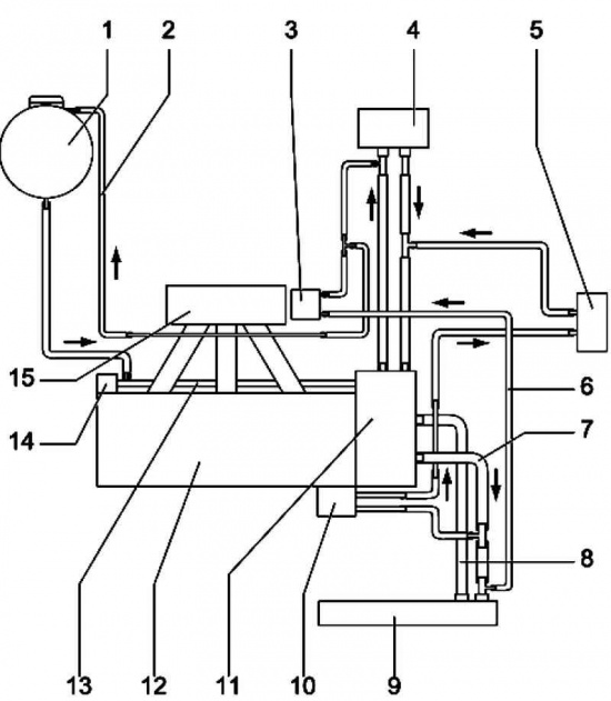 шланг системы охлаждения;