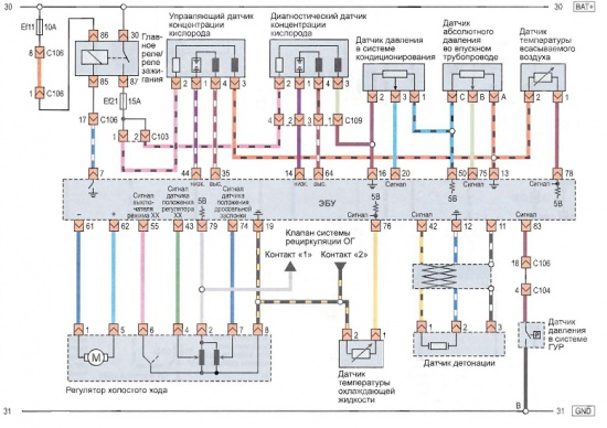 Принципиальная схема датчиков
