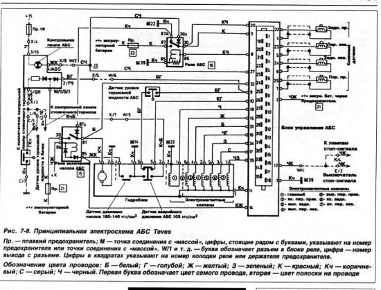 элетросхема на фольксваген б3
