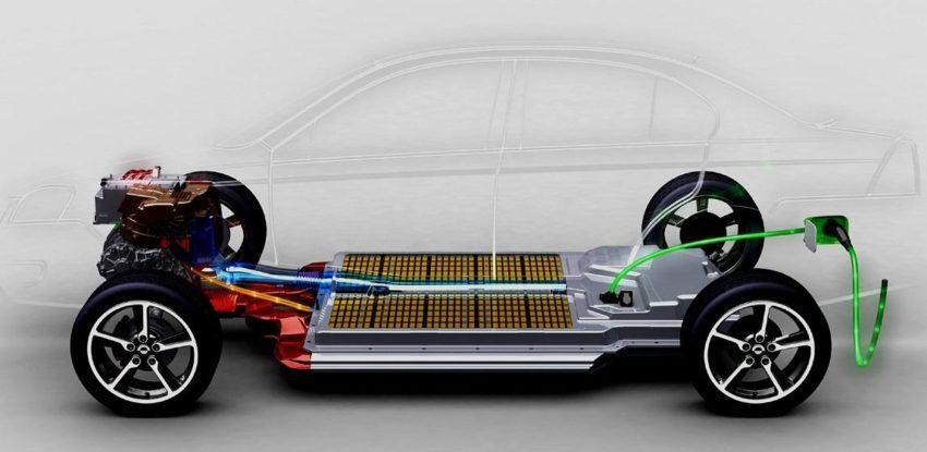 Аккумуляторная батарея в электромобиле