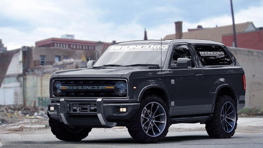 Ford Bronco в темном кузове