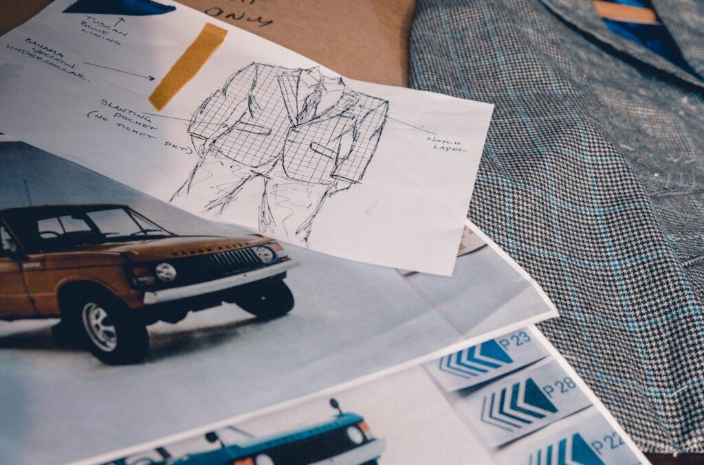Эскизы ткани для пиджака