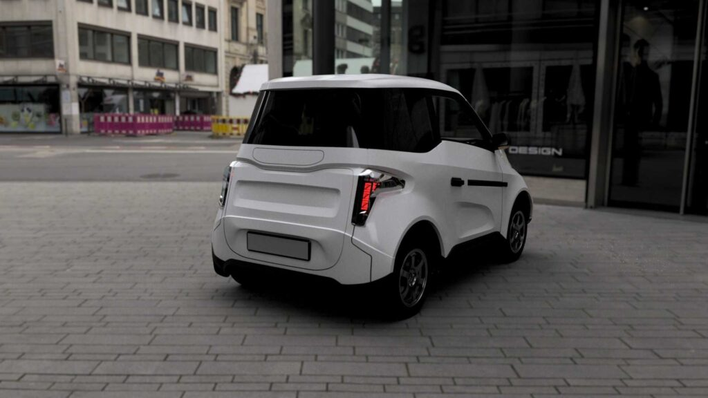 Внешний вид автомобиля от Петербургского политеха напоминает другую российскую новинку - экономичный электрокар Zetta
