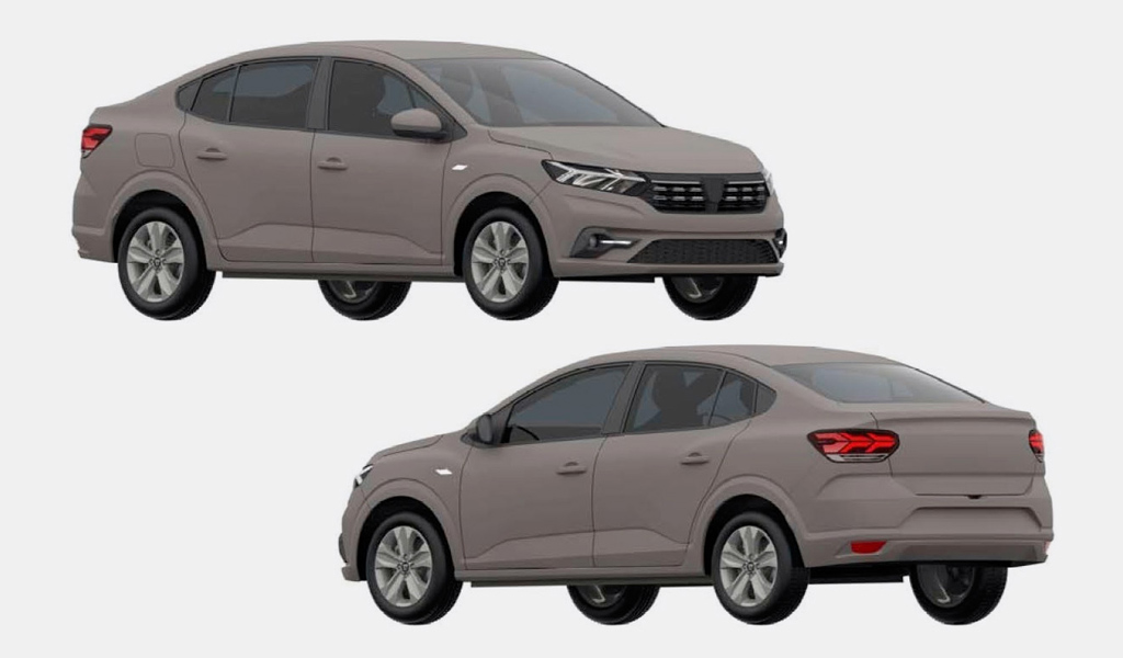 В базе ФИПС появились изображения нового Renault Logan для России