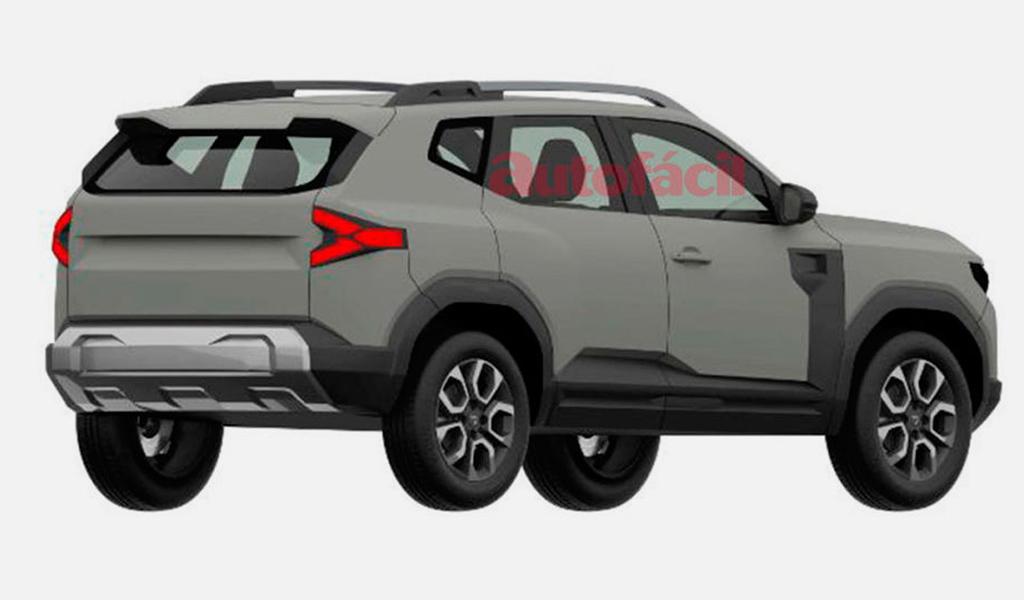 Dacia Bigster - вид сзади
