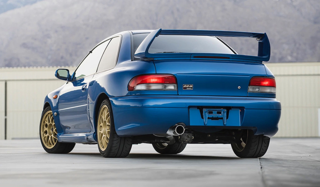 Subaru Impreza STi 1998 года - вид сзади