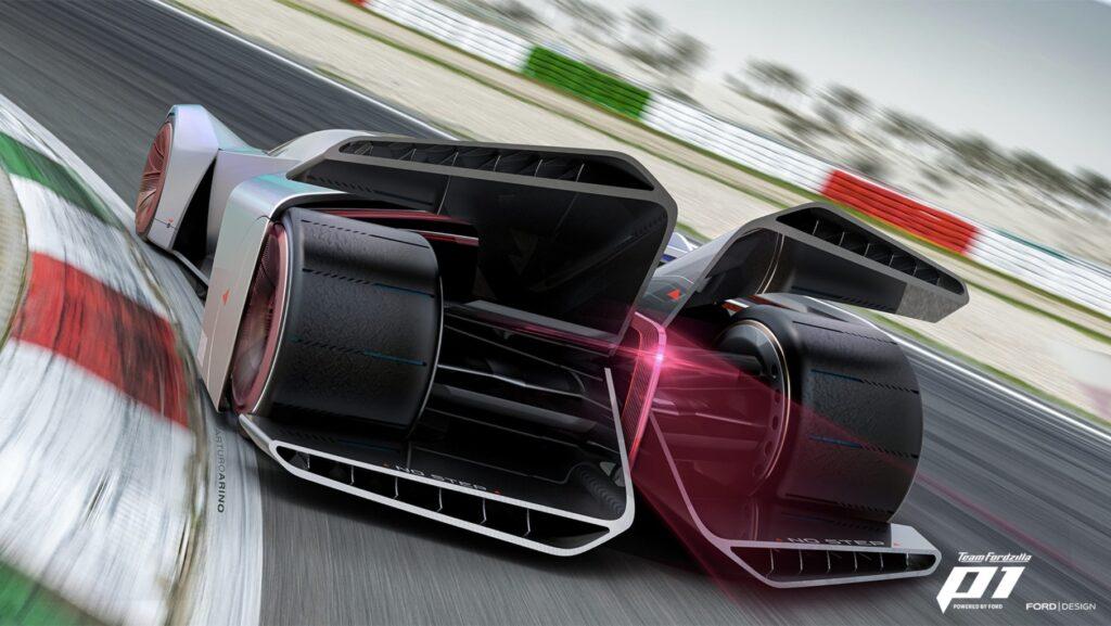 Дизайн пока что виртуального концепта под названием P1 был представлен компанией Ford. Разработан суперкар был при участии геймеров
