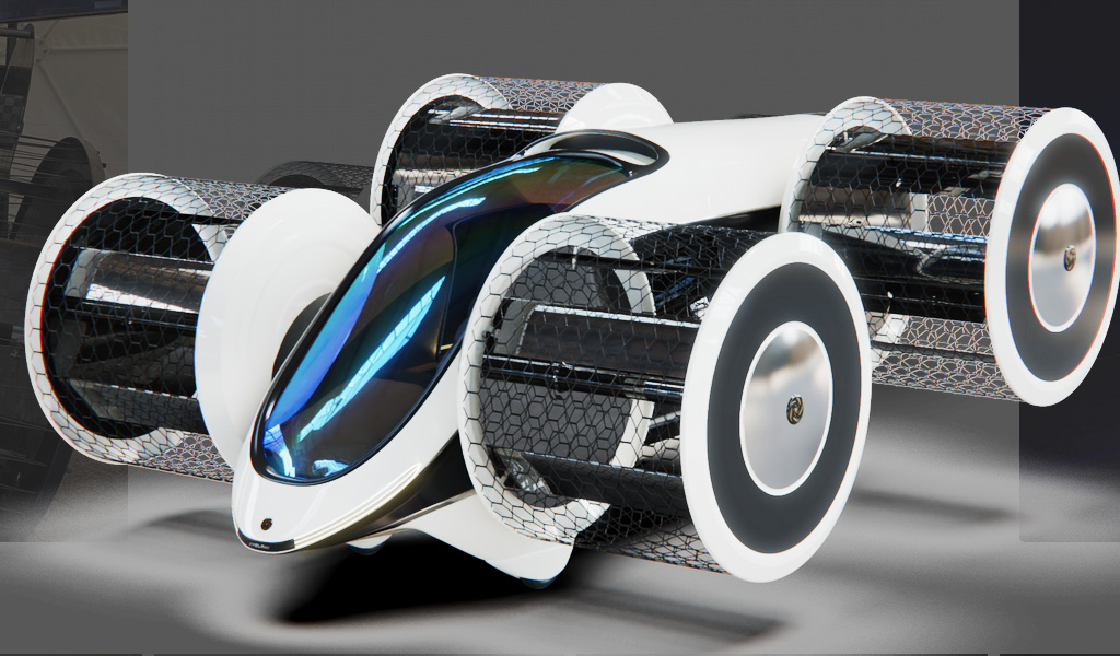 В России работают над созданием летающего автомобиля «Циклокар»