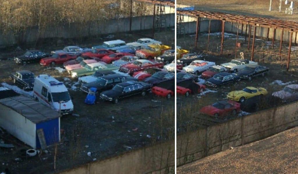 В Санкт-Петербурге обнаружили заброшенную стоянку с раритетными дорогими автомобилями