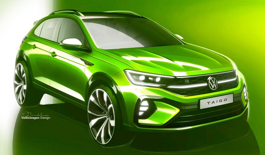 Volkswagen опубликовал эскизы с новым кроссовером на базе Polo