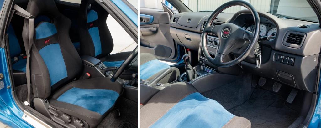 Салон Subaru Impreza STi 1998 года