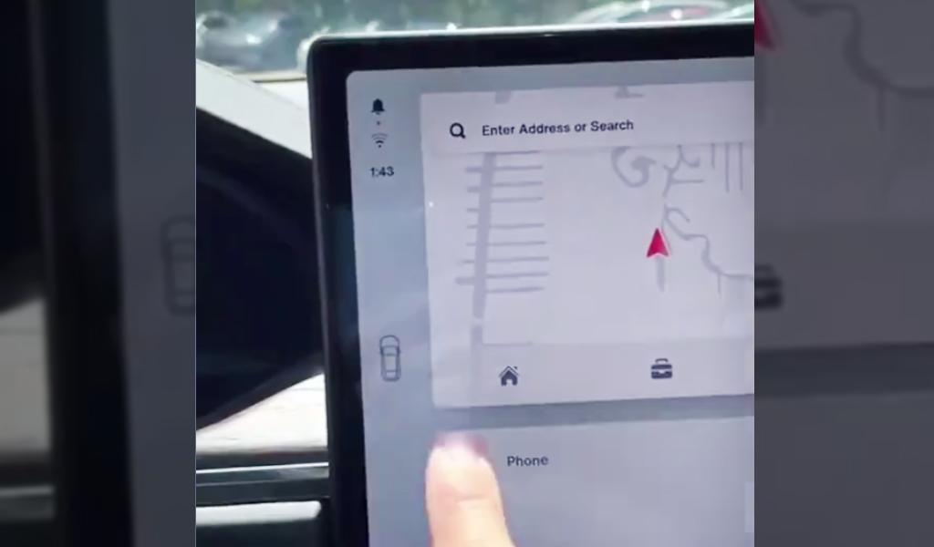 В сети показали как у Tesla переключаются передачи на сенсорном экране