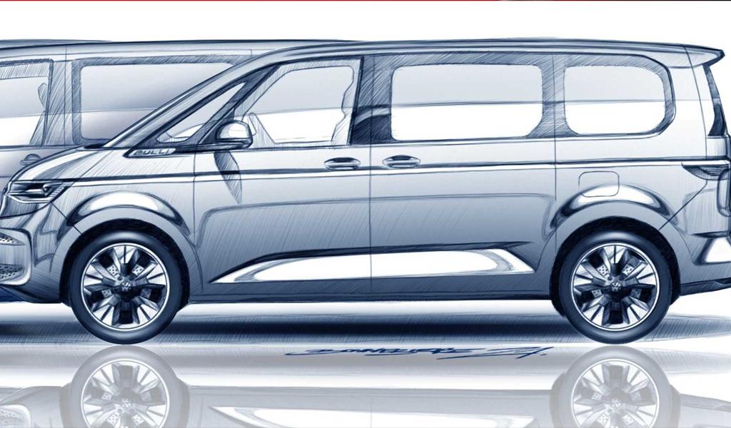 Volkswagen опубликовал изображения нового минивэна Multivan
