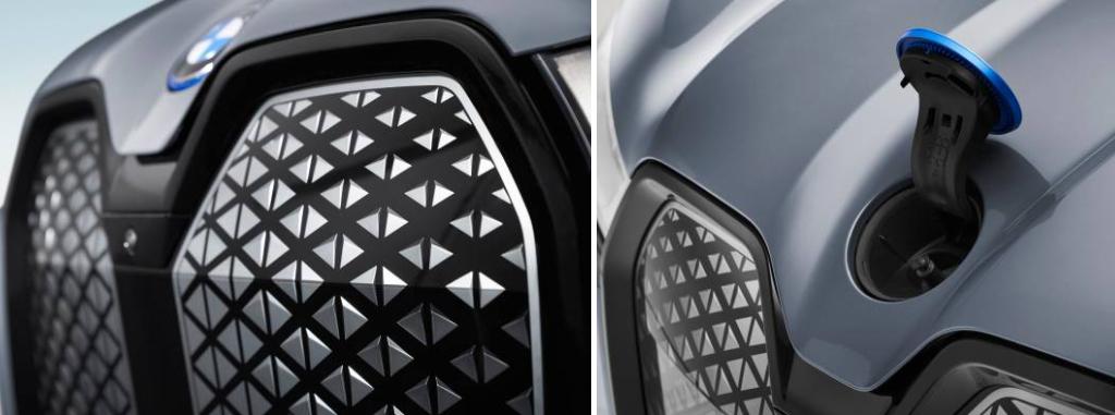 Эмблема BMW на капоте выполняет роль крышки заливной горловины для жидкости омывателя