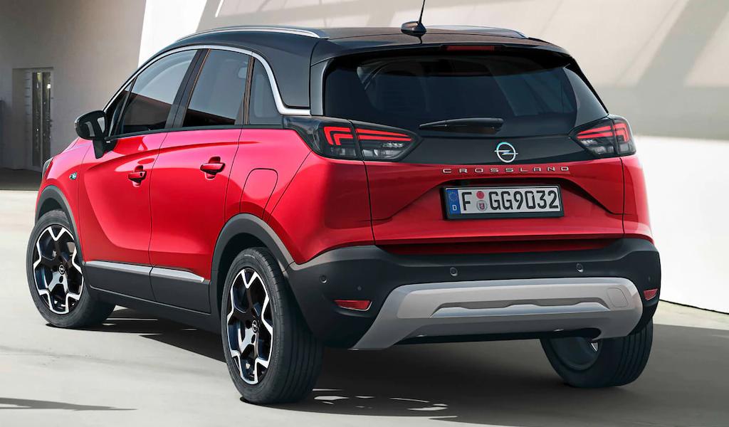 Opel Crossland - вид сзади
