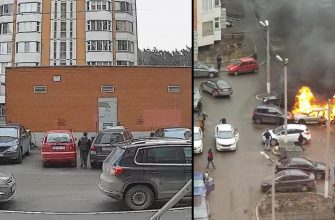 Соцсети: В Подмосковье два школьника подожгли автомобиль