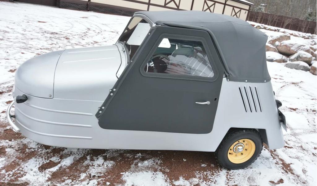 В России за 5,75 млн рублей продают трехколесный советский автомобиль