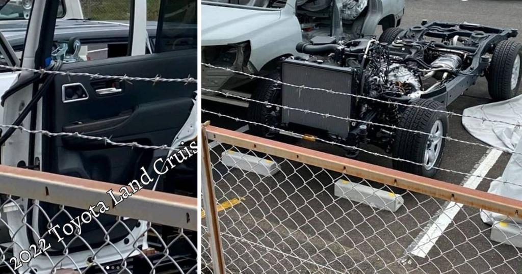 Дверь и рама нового Toyota Land Cruiser 300