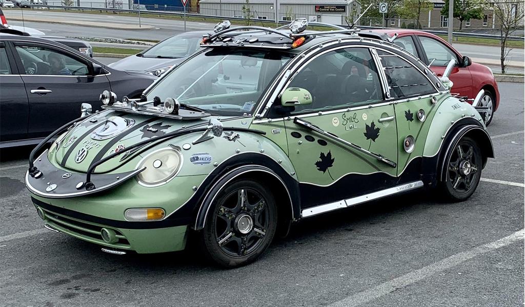 В Канаде сфотографировали очень странный Volkswagen Beetle