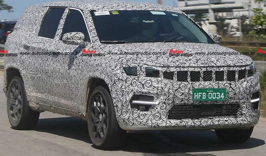 Новый семиместный кроссовер Jeep попался на фото