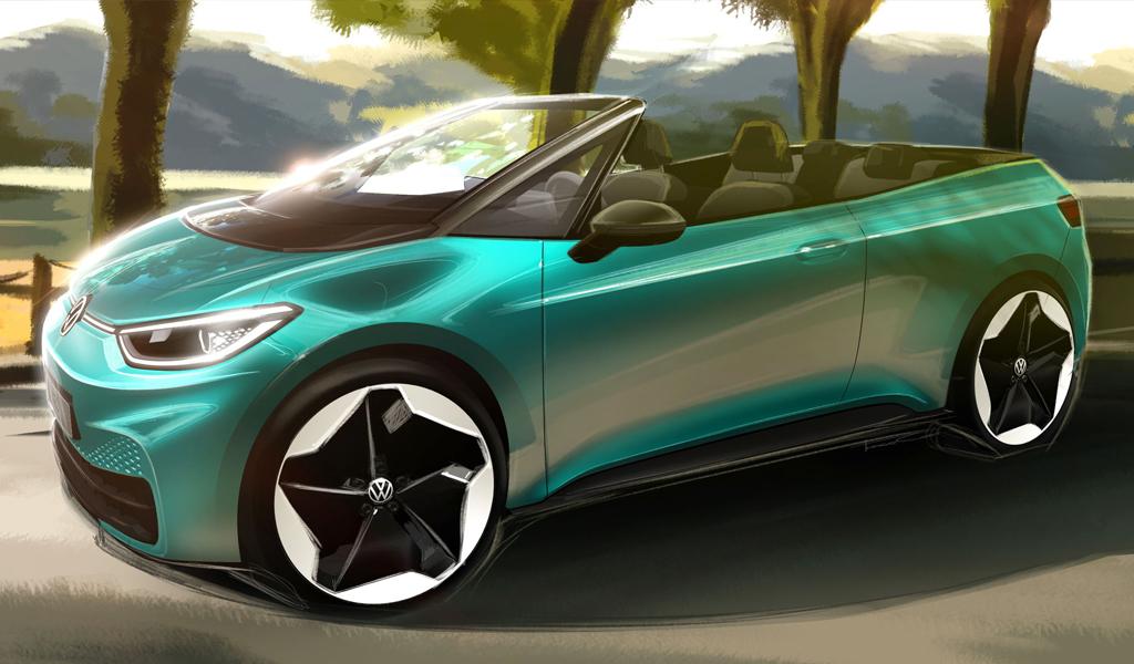 Volkswagen может выпустить серийный электромобиль кабриолет