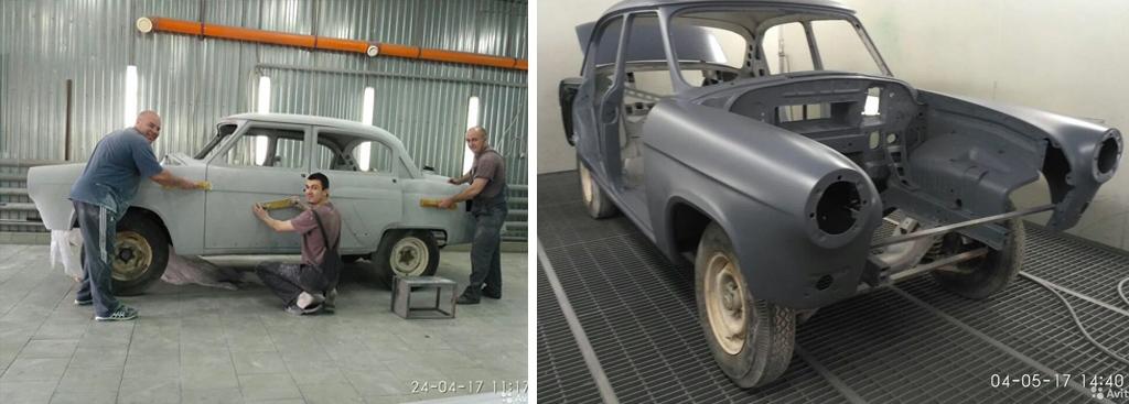 Процесс реставрации ГАЗ-21 «Волга» 1966 года