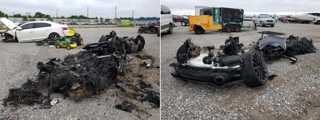 Полностью сгоревший McLaren GT уйдет с «молотка»