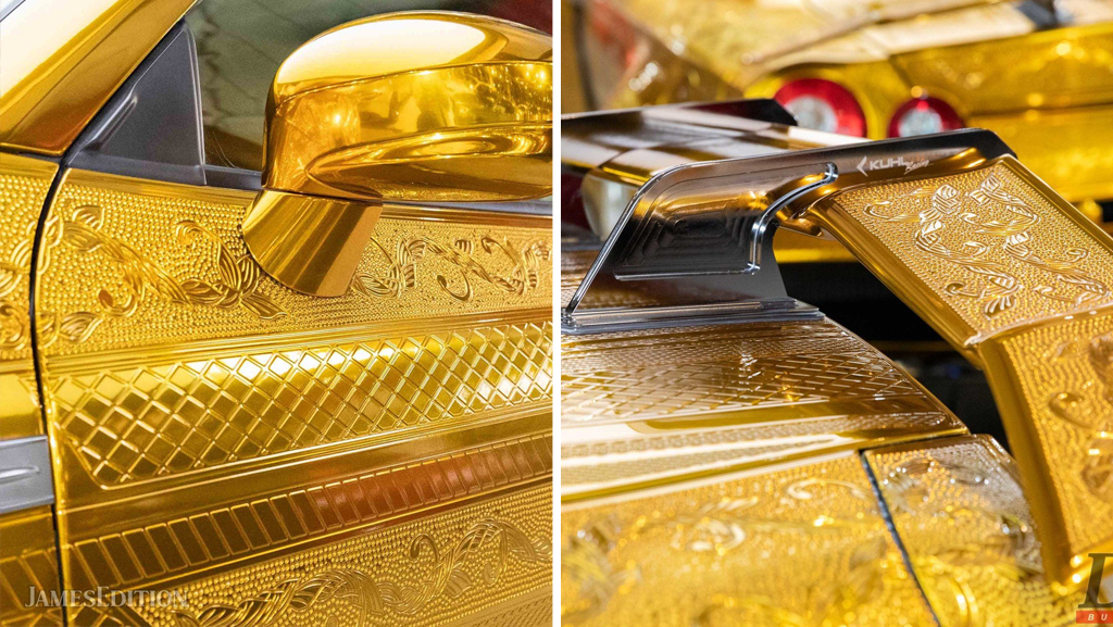 «золотой» Nissan GT-R - элементы кузова