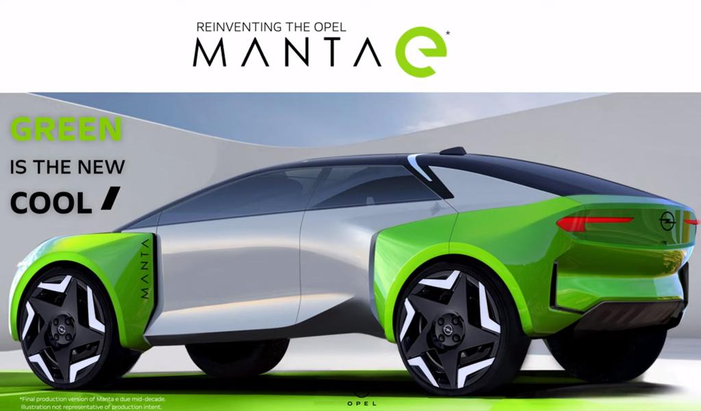 На видео показали будущий электрокроссовер Opel Manta e