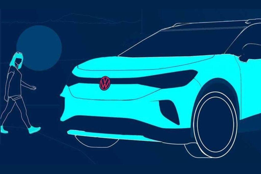 Компания Volkswagen опубликовала в Сети графическое изображение своего нового кроссовера