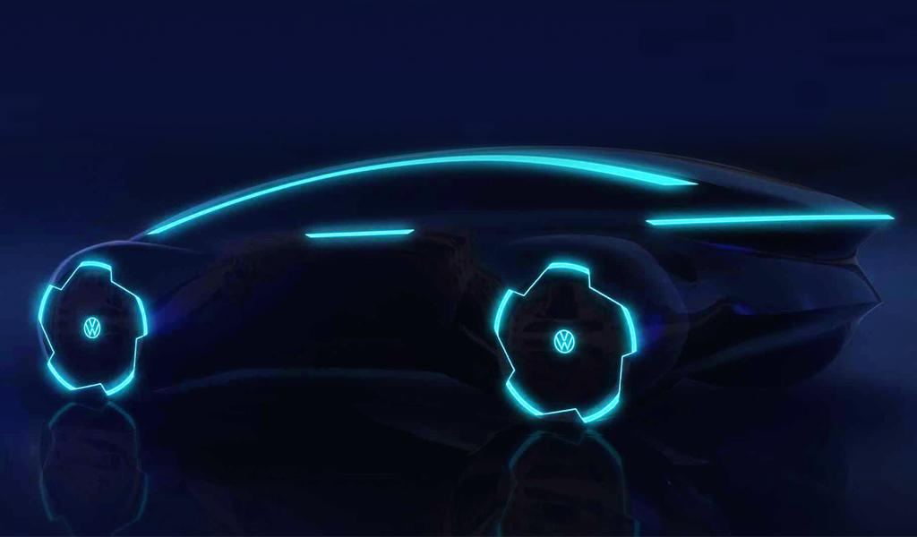 Volkswagen вновь показал эскизы беспилотника, который выйдет в 2026 году