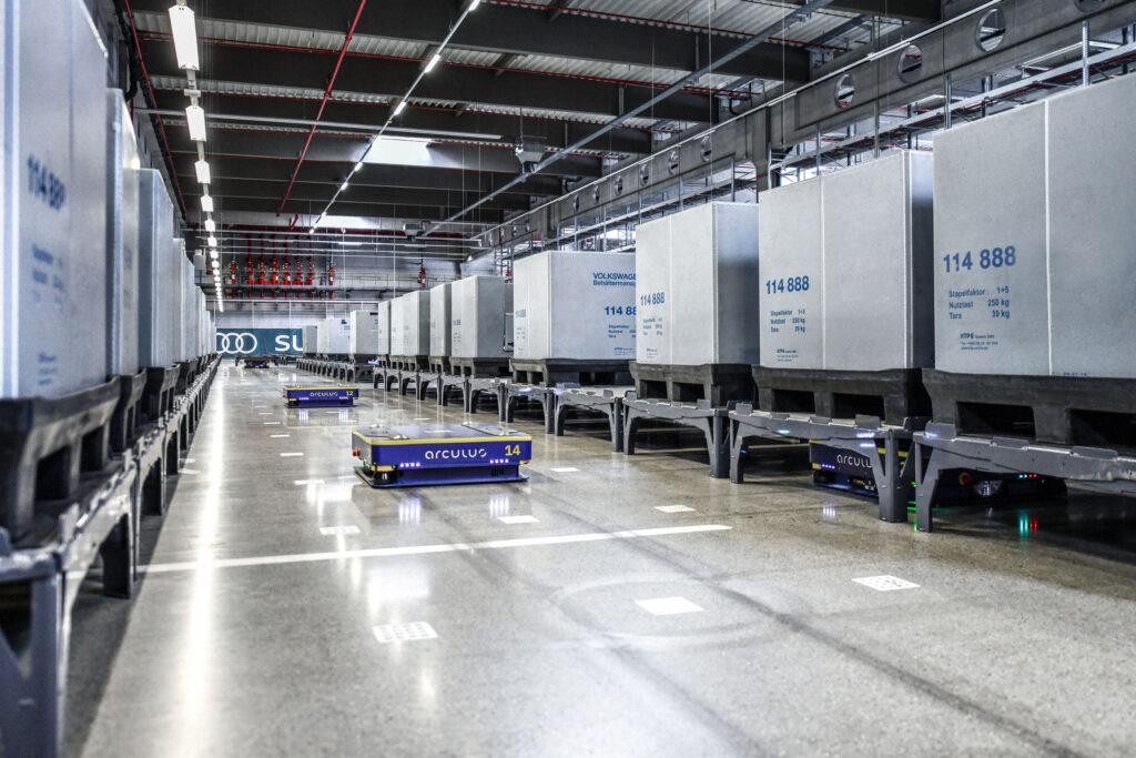 На заводах Audi уже много лет используются автоматизированные транспортные средства (AGV)