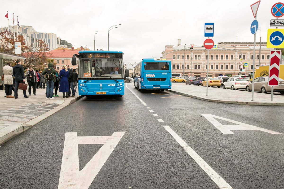 Движение по выделенным полосам в Москве частично будет запрещено