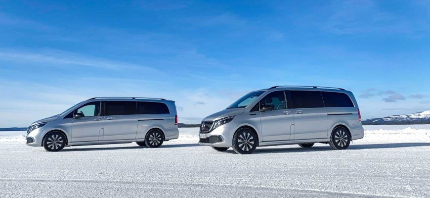 Mercedes протестировал первый электроминивэн на морозе