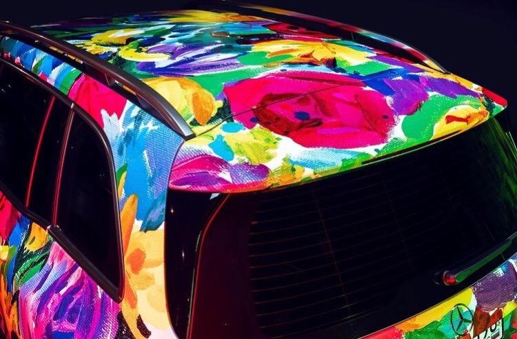 Акварельный Mercedes-Benz - необычный стайлинг