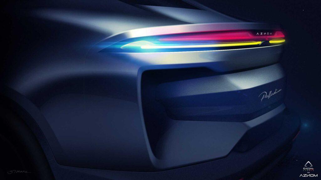 Полное название будущего автомобиля - Aznom Palladium