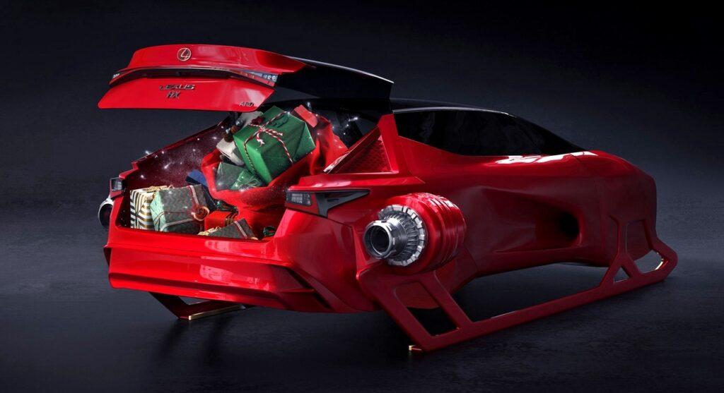Lexus HX Sleigh - новые сани для Деда Мороза