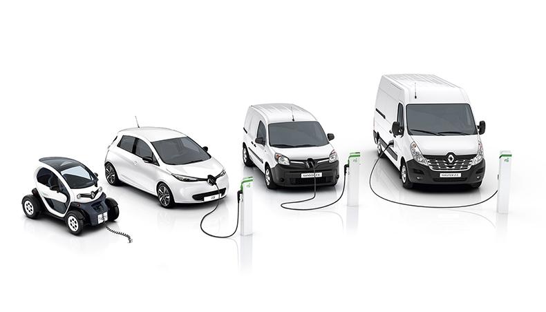 Линейка электрокаров Renault